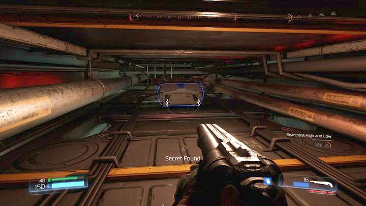 Поверните снова налево в конце и прыгайте в нишу, в которой была спрятана Серебряная ячейка - Серебряная Энергетическая Башня |  Секреты - Секреты - Руководство по игре в Doom и прохождение