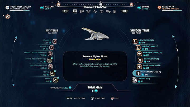 Эту модель можно купить у одного из торговцев на торговой площадке Aya - Список масштабных моделей кабины капитанов в Mass Effect: Andromeda - FAQ - Часто задаваемые вопросы - Mass Effect: Руководство по игре Andromeda