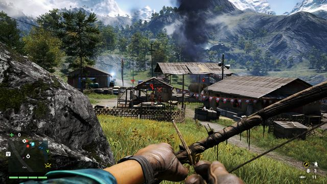 Shoot the elephant with your bow and it will break the cage. - Shanath Breeders - Outposts - One alarm - Far Cry 4 - Game Guide and Walkthrough