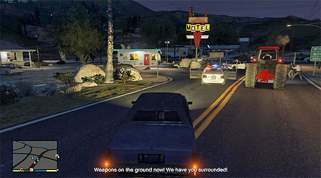 You can kill either the policemen or the robbers - Countryside robbery - Random events - Grand Theft Auto V Game Guide