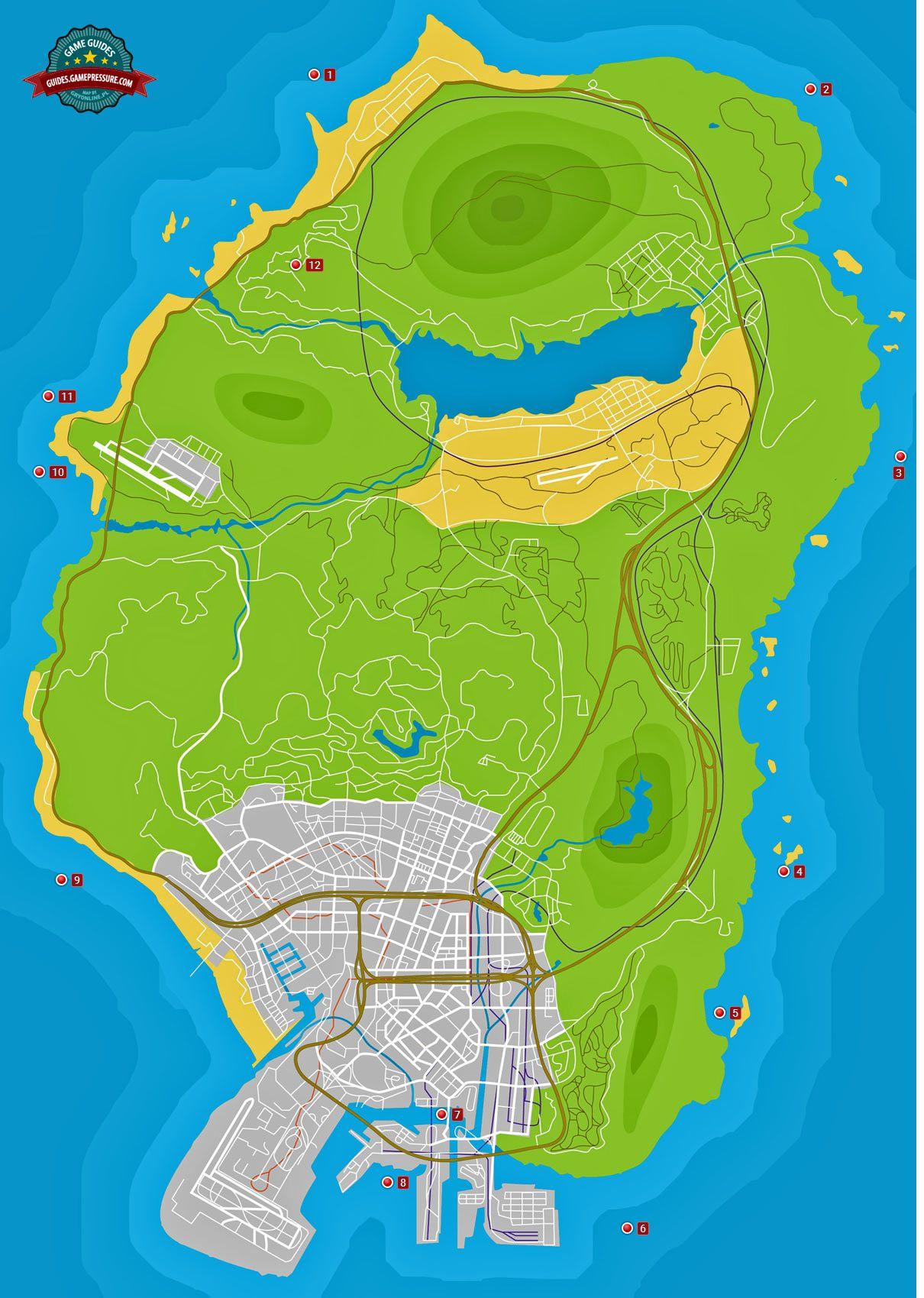 GTA V Map - Hidden packages