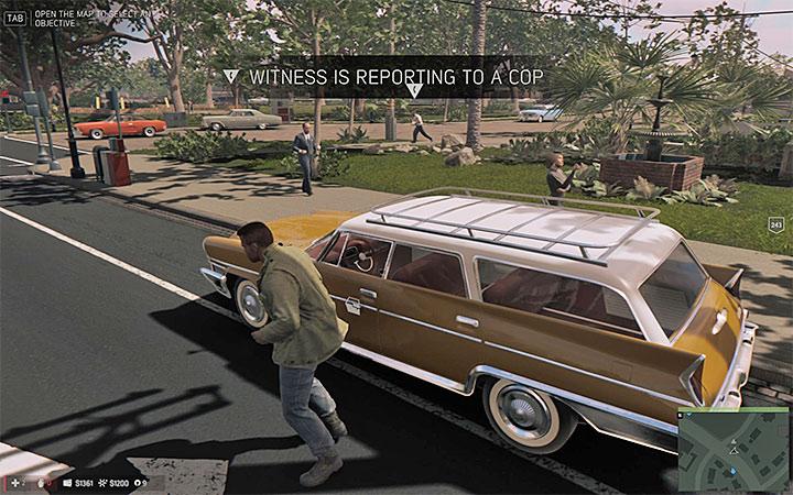 Если вы угоняете автомобиль, существует высокий риск того, что кто-то вызовет полицию - Общие советы - Основная информация - Руководство по игре Mafia III