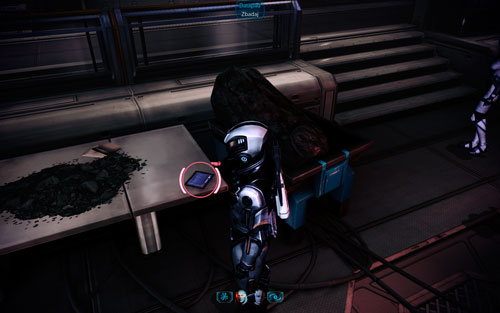 Datapad VI [2500 credits] - in the armchair in the watch room next to the room where the secret conference is held - Mahavid - Walkthrough - Mass Effect 3: Leviathan - Game Guide and Walkthrough