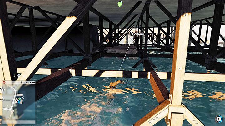 Эта точка спрятана под пирсом - легко доступно при игре в Маркус - Точки исследования - карта, локации 1-61 - Коллекционирование - Руководство по игре Watch Dogs 2