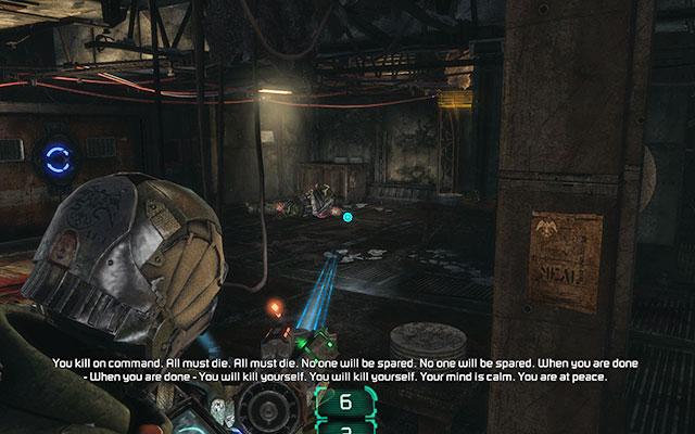 Пройдите через кровавую комнату и кухню и поверните к воротам слева - выкопайте 163-ю казарму Жнеца |  Побочные миссии: Казармы Жнецов - Побочные миссии: Казармы Жнецов - Dead Space 3 Руководство по игре