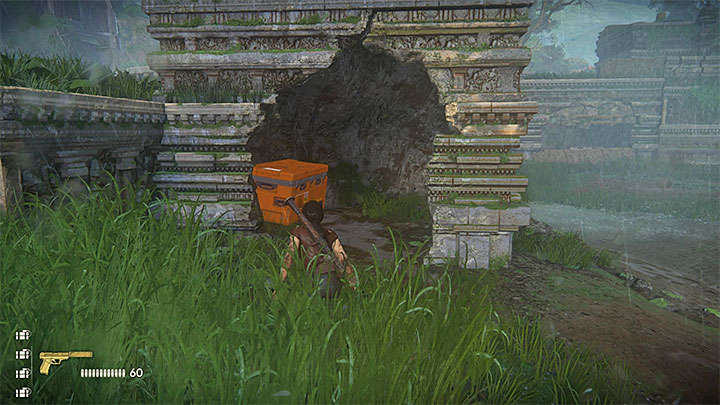 You can find both of the crates while in the ruins occupied by the enemies, where there is APC - Secrets in The Gatekeeper chapter | Secrets - Secrets - Uncharted: The Lost Legacy Game Guide