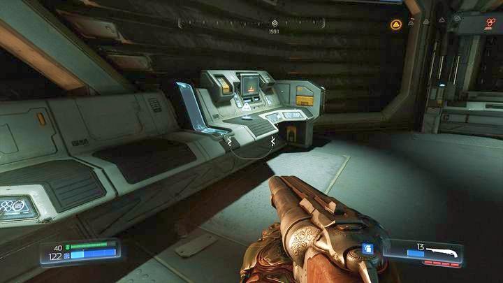 После того, как вы убьете всех монстров, вы можете взять журнал данных, спрятанный там, и использовать боевой дрон поддержки - Argent Energy Tower |  Секреты - Секреты - Руководство по игре в Doom и прохождение