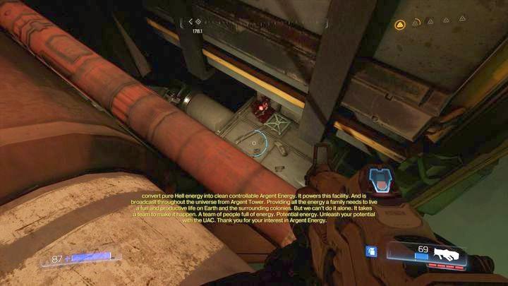 Повернись после того, как увидишь Оливию в первый раз - Argent Energy Tower |  Секреты - Секреты - Руководство по игре в Doom и прохождение
