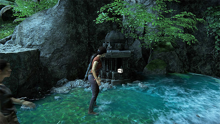 This treasure is in the above photo location, i - Secrets in The Gatekeeper chapter | Secrets - Secrets - Uncharted: The Lost Legacy Game Guide