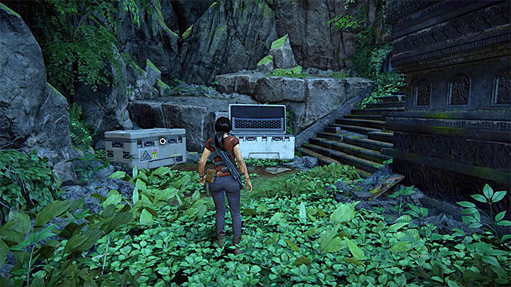 You can find the last crate right after the abovementioned conversation with Nadine - Secrets in The Gatekeeper chapter | Secrets - Secrets - Uncharted: The Lost Legacy Game Guide