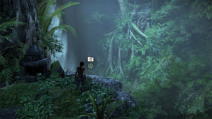 The second photo opportunity appears soon after you have left the location with elephants and reached a new large cave - Secrets in The Gatekeeper chapter | Secrets - Secrets - Uncharted: The Lost Legacy Game Guide