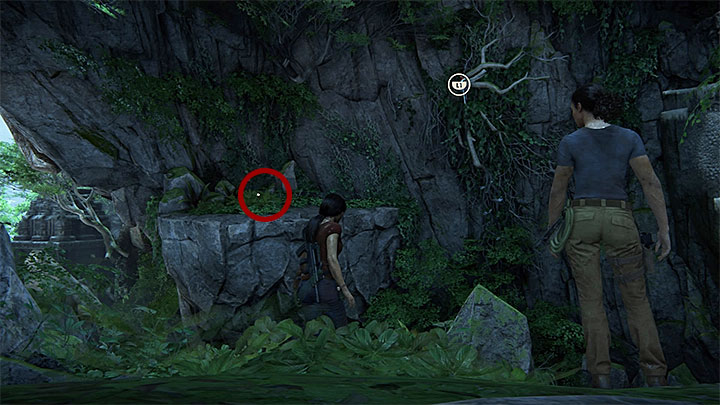 This treasure is in the cave where you have taken the above photo - Secrets in The Gatekeeper chapter | Secrets - Secrets - Uncharted: The Lost Legacy Game Guide