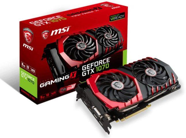 "Картинки по запросу ""MSI Gaming GeForce 8GB GDDR5 GTX 1070 Ti Graphics Card"""