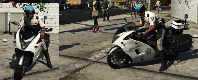 Hakucho Police Bike + BF400 Dirtbike