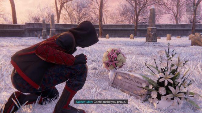 Месторасположение могилы Дэвиса в Spider-Man: Miles Morales