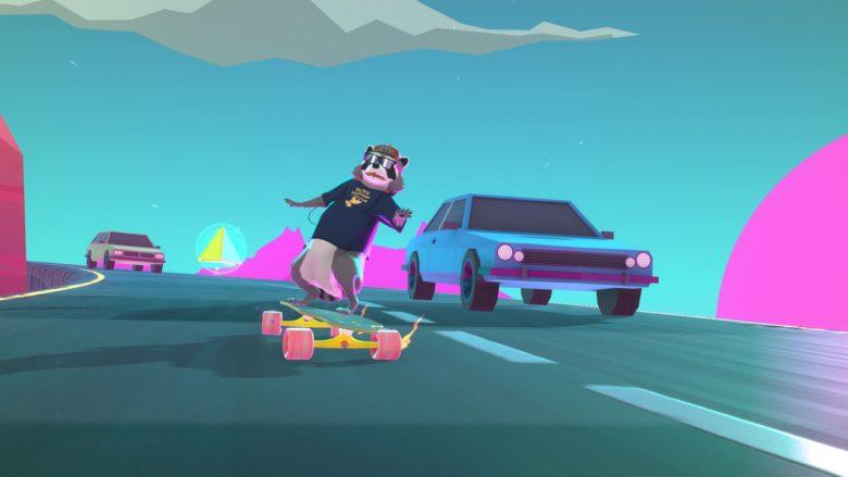 Енот и скейтборд в релизном трейлере Tanuki Sunset