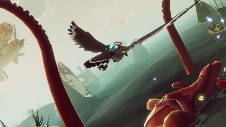 Воздушная аркада The Falconeer получила бесплатное дополнение The Kraken