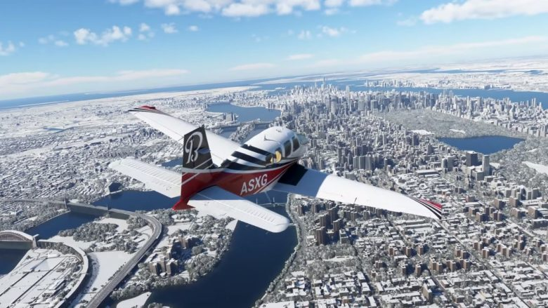Microsoft Flight Simulator радует игроков заснеженными пейзажами