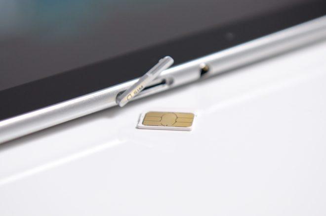 Слот для сим-карты в планшете
