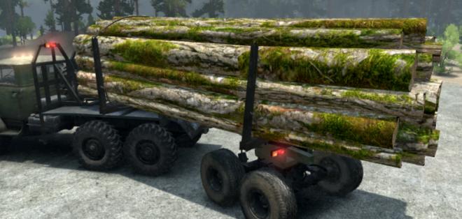 Texture Log w/ Moss