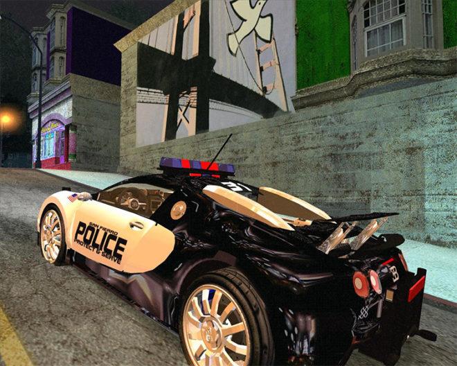 Bugatti Veyron for the SFPD