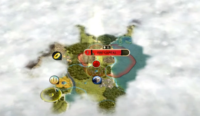 Карта мира Avatar: The Last Airbender