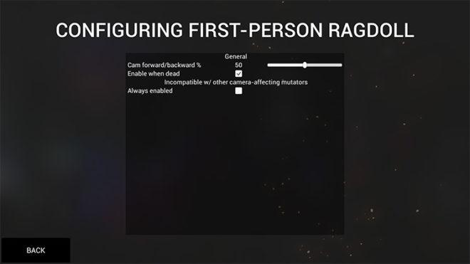 First-Person Ragdoll Mutator