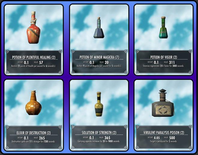 Dynamic Potions for Skyrim