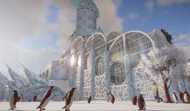 Detailed Penguin Ice Cathedral