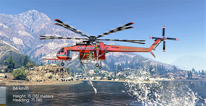 Sikorsky S-64E Fire Fighting Helicopter
