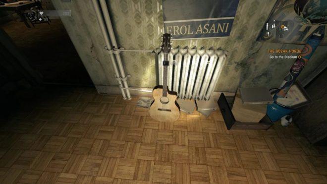 Гитара в комнате Крэйна