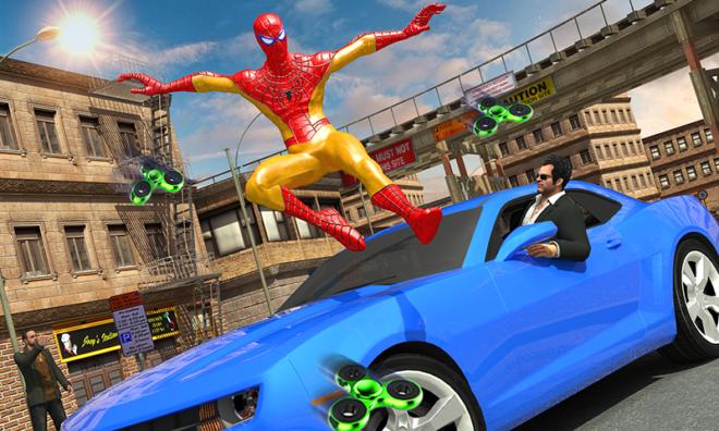 Super hero VS Spider Hero Gangster Crime 3D