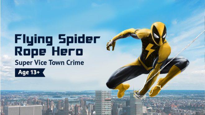 Скачать Flying Spider Rope Hero 1.0.32 для Android