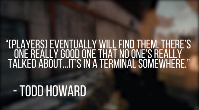 «Игроки рано или поздно их найдут. Хотя есть один хороший секрет, который никто особо и не обсуждал… он в одном из терминалов»
